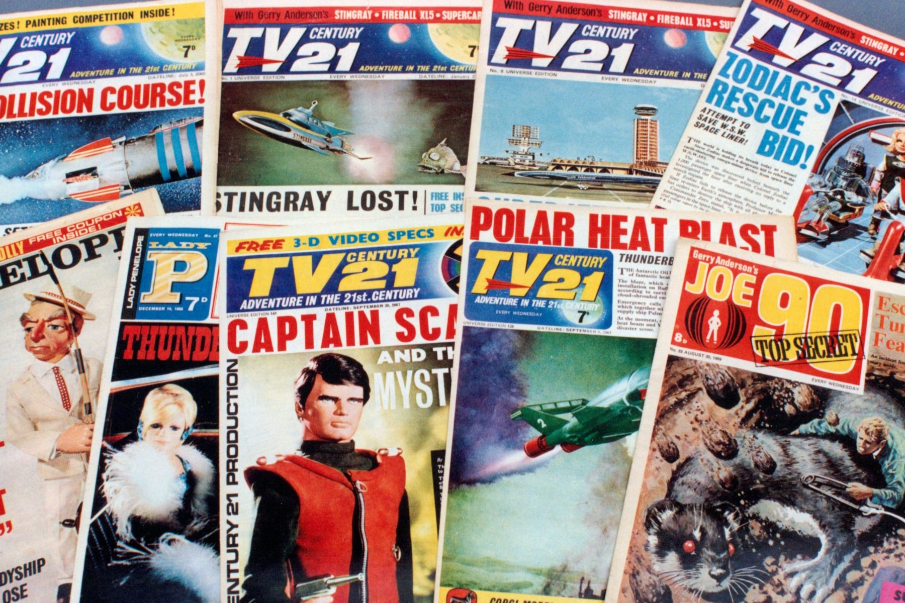 TV Century 21 comic launches. Conceived of as a newspaper for children it featured a 'stop press' front page with news items and photographs. It soon had a circulation of over 1 million copies per week.