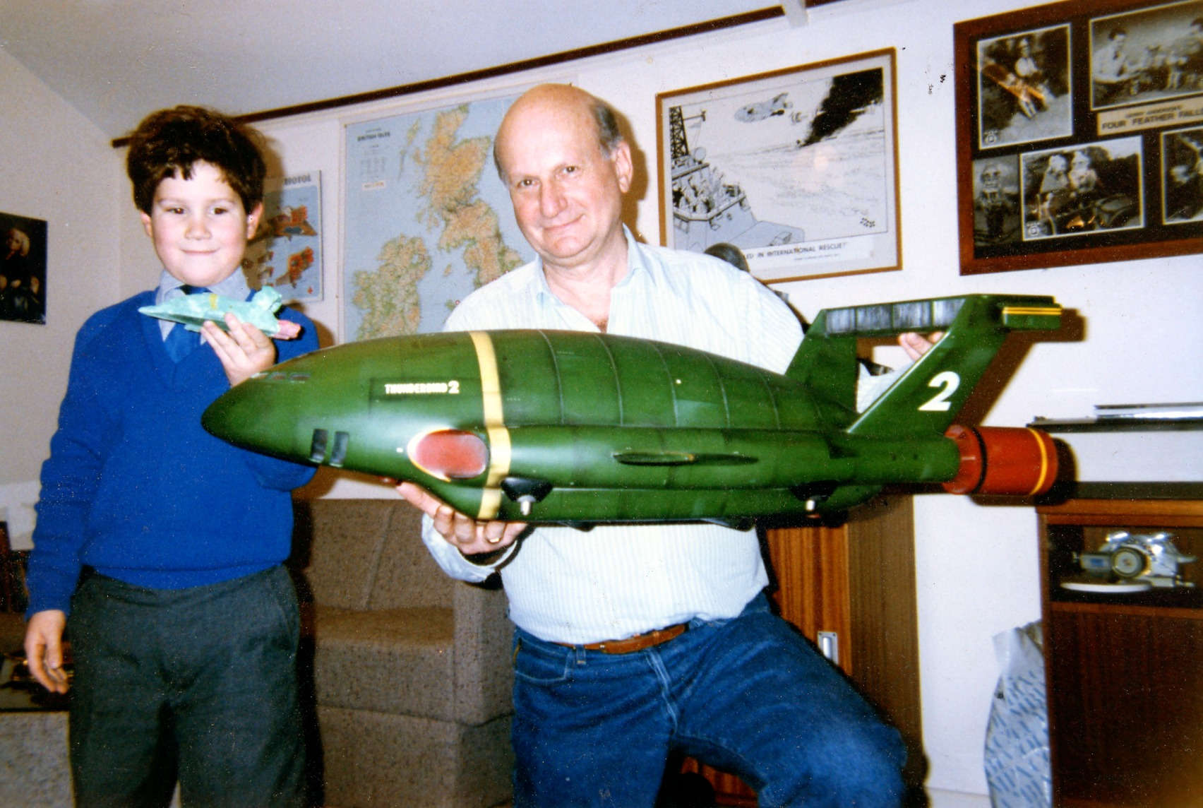 Gerry Anderson Holding Space Ship